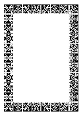 Art deco simple vector frame  Vector