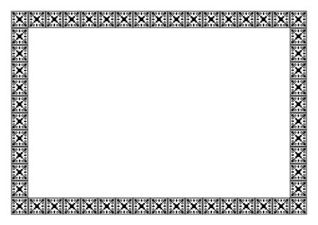Art deco vector frame
