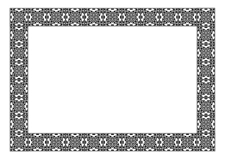 Art nouveau simple vector frame  Vector