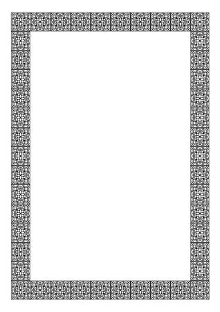 Art nouveau vector frame