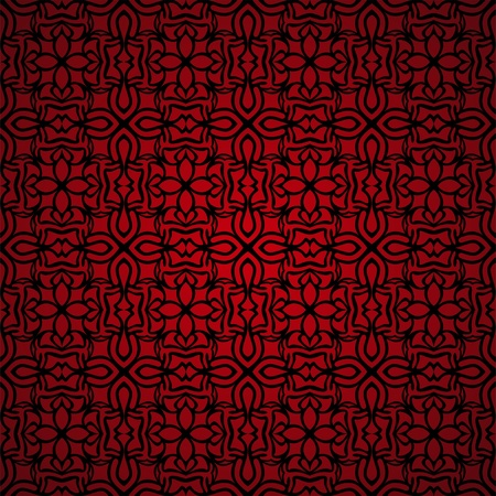 jugendstil: Simple seamless red wallpaper  Illustration