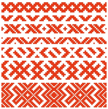 Belorussian traditional ornament two  Vector