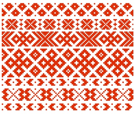 Belorussian traditional ornament four Vector