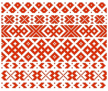 slavic: Bielorusso ornamento tradizionale a quattro Vettoriali