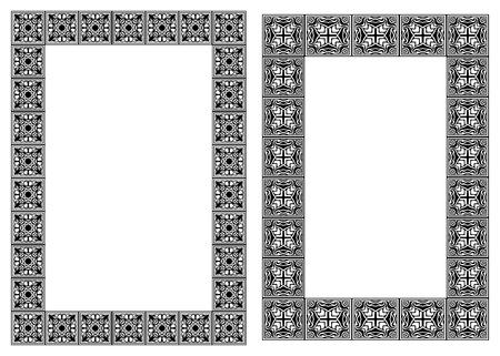 Set of art nouveau vector vertical frames Stock Vector - 11571934