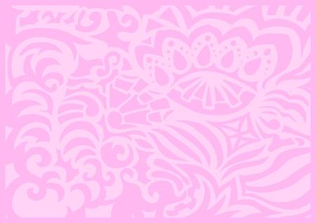 Pink gentle romantic background  Vector