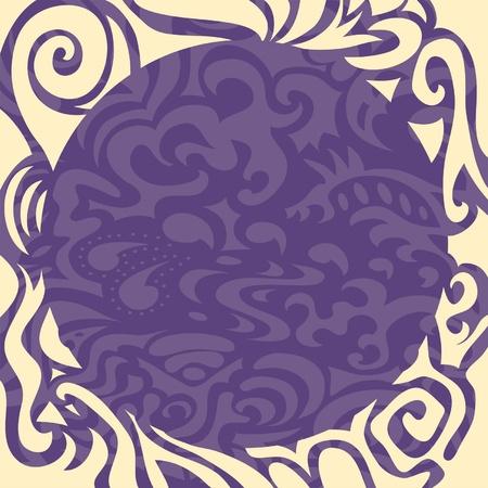 Violet elegant round frame Vector