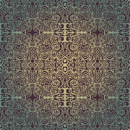 tapestry: Green luxury seamless pattern