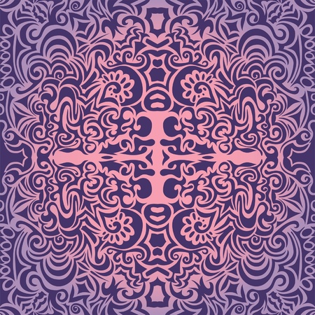 Violet great vintage seamless pattern Vector