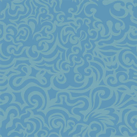 Curly blue seamless pattern photo
