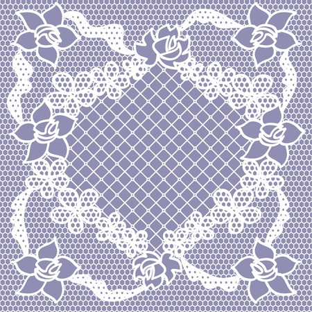 Lace seamless pattern with flowers Stock Vector - 12928238
