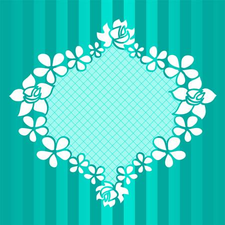 Funny floral green frame Vector