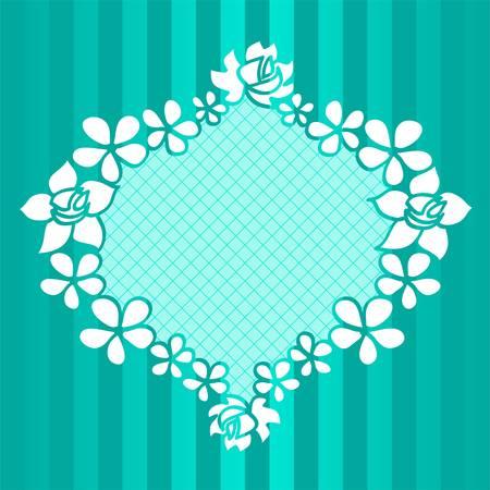 Funny floral green frame Vector