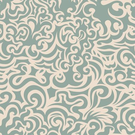Curly blue seamless pattern may be used as background or wallpaper Stock Vector - 12928223