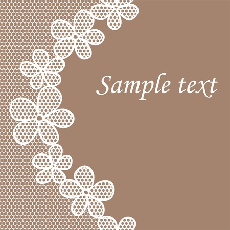 White lace pattern background may be used as invitation card Vector