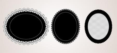 Black elegant doily Vector