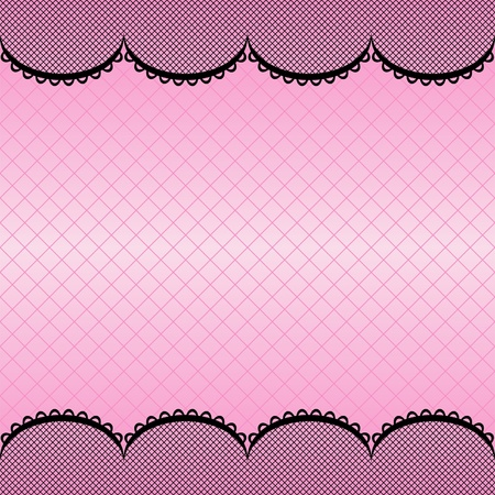 pink and black: White lace pattern background may be used as invitation card