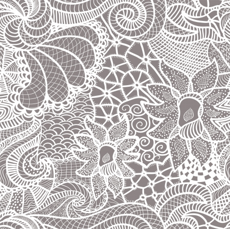 Hand drawn seamless pattern Stock Vector - 13579916