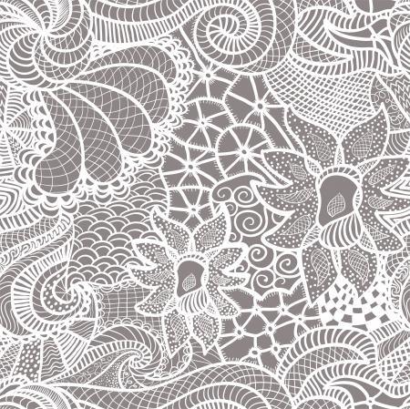 Hand drawn seamless pattern Vector