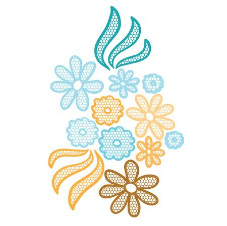 Lace flower applique Vector