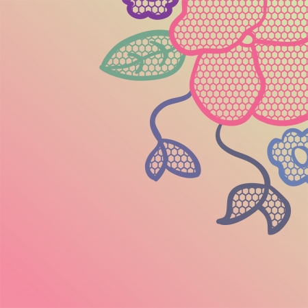 Lace pattern background Vector