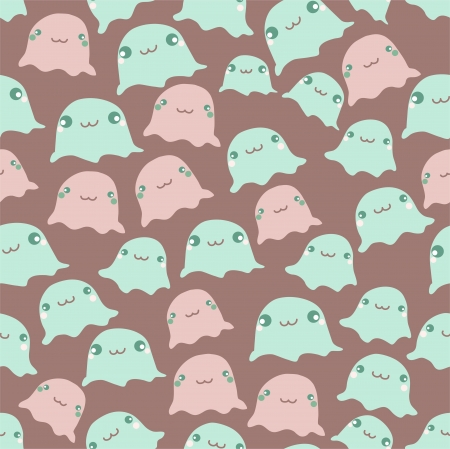Funny sea seamless pattern Vector