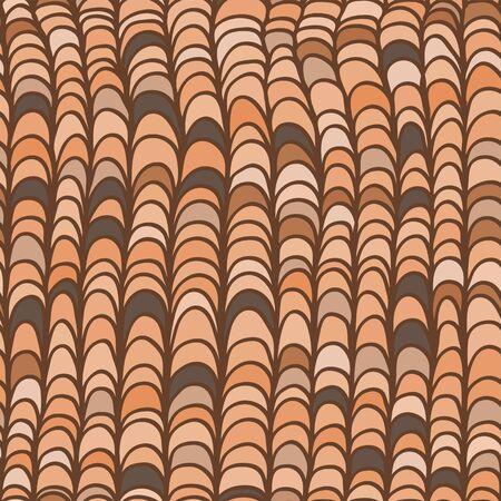isolines: Hand drawn seamless pattern Illustration