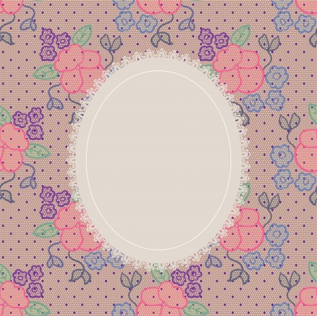lacework: Elegant doily on lace gentle background for scrapbooks, albums, crafts, decorating Illustration