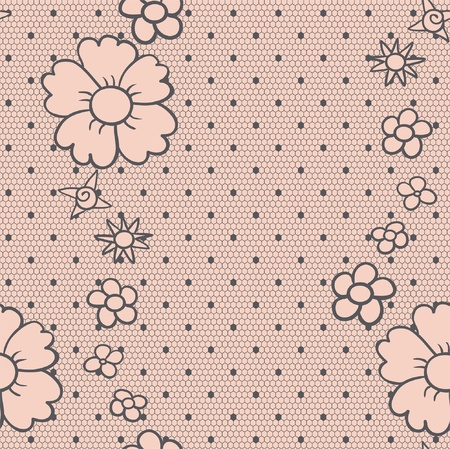 Gentle elegant dotted lace seamless  pattern Vector
