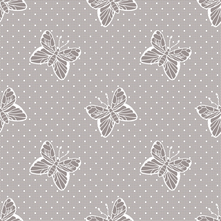 Gentle elegant dotted lace seamless  pattern Stock Vector - 15137900