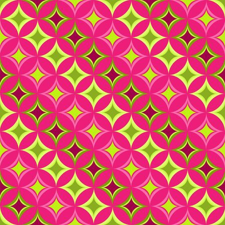 Pink  seamless pattern in retro style Stock Vector - 15095603