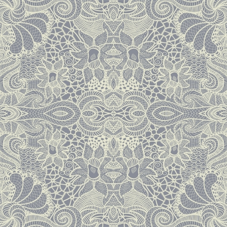 lace pattern: Hand drawn seamless pattern Illustration