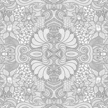 lacy: Hand drawn seamless pattern Illustration