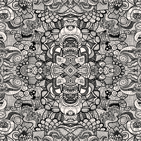 Hand drawn seamless pattern Stock Vector - 15137885