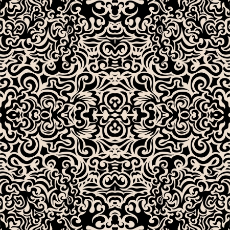 psychedelic background: Hand drawn seamless pattern, seamless vector pattern