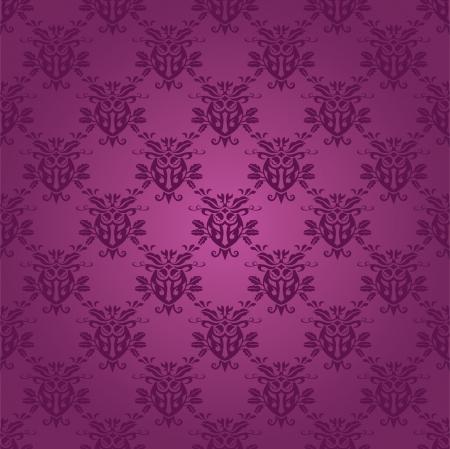 Damask seamless silk, vector illustration Vector