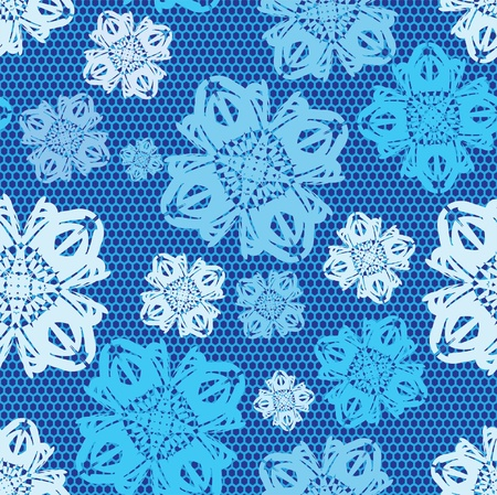 patterning: Winter snow lacy seamless pattern. Vector illustration.