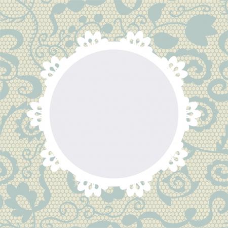 Elegante Deckchen auf Spitze sanften Hintergrund für Sammelalben
