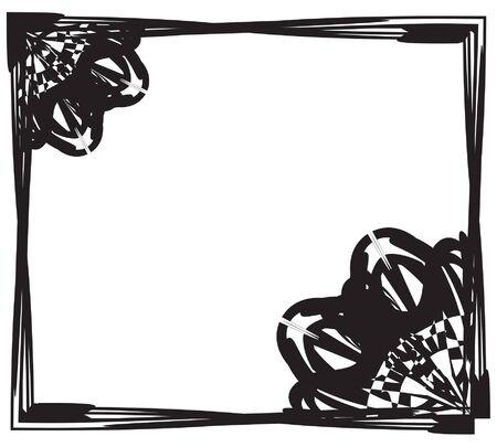 lack: lack and white  frame Illustration