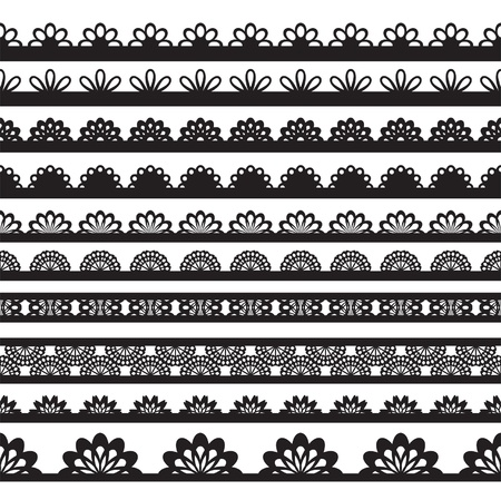 lace edges: Can be used for use with backgrounds or scrap-booking.