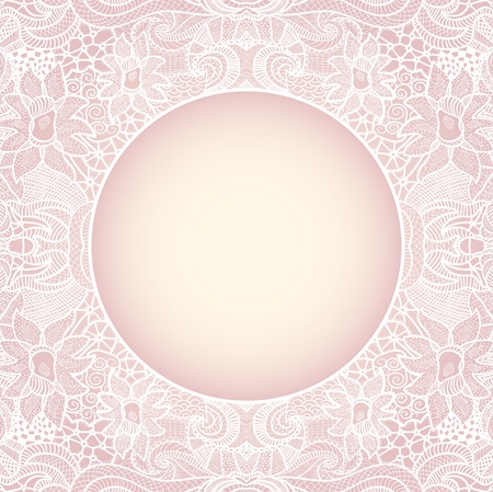 Circle on seamless pattern. Template with copy space. Stock Vector - 16484385