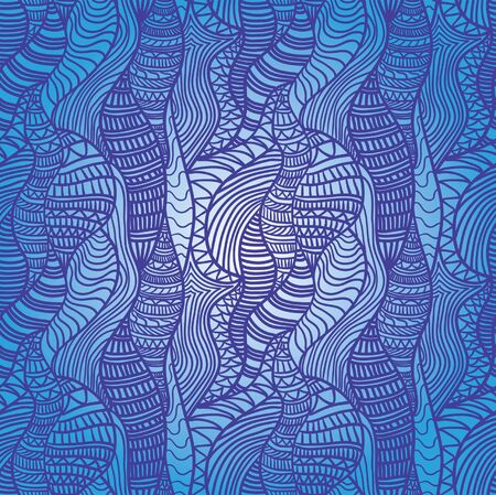 Seamless abstract hand-drawn pattern. May be used as background. Illustration