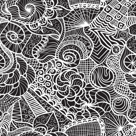 Hand-drawn seamless pattern may be used as background Stock Vector - 16473279