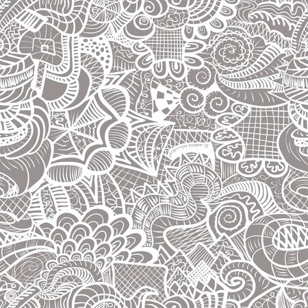 Hand-drawn seamless pattern may be used as background Stock Vector - 16473281