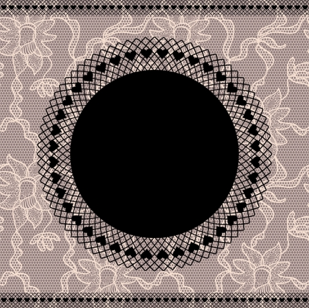 Elegant doily on lace background for scrapbooks Vector