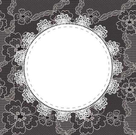 Elegante Deckchen auf Spitze sanften Hintergrund für Sammelalben Vektorgrafik