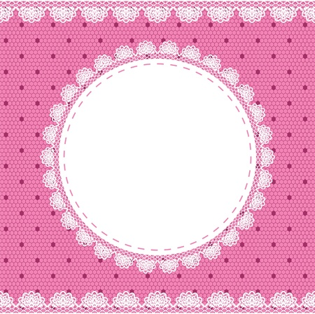 Elegant doily on lace gentle background for scrapbooks Illusztráció