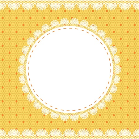 Elegant doily on lace gentle background for scrapbooks Vector