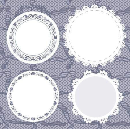 doilies:  illustration. Background for scrapbook. Illustration