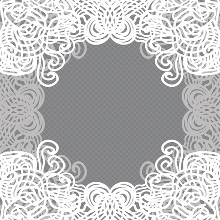 Vector white lace on texture, template. Vector